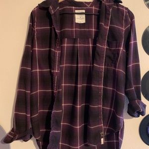 Purple white flannel